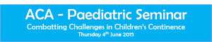 ACA Paediatric Seminar Website Banner